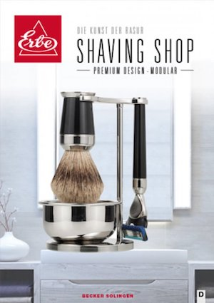 ERBE Shaving Shop Modular Katalogtitel