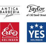 Marken der Firma Becker ERBE, YES, Taylor of Old Bond Street und Mondial Antica Barberia