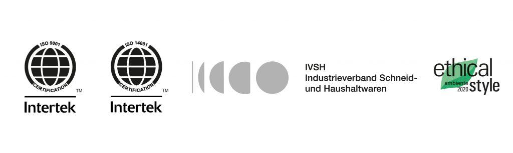 Logos DIN EN ISO 9001 14001 Ethical Style